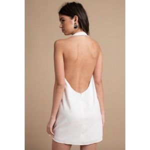 e5aadb816d2b Backless White Shift Dress from Tobi - NWT!